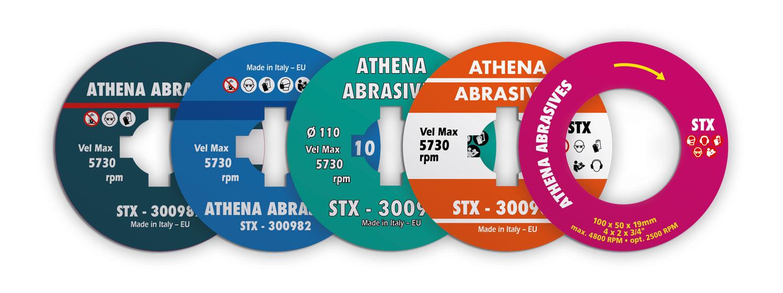 etichette personalizzate athena abrasives